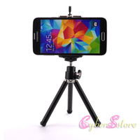 soporte para cámara de teléfono móvil al por mayor-Universal Mini 360 Full Metal Rotativo Extensible Mini trípode + Soporte para cámara iPhone 8 X Samsung S8 Mobile Cell Phone