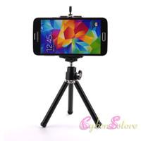 camaras rotativas al por mayor-Universal Mini 360 Full Metal Rotativo Mini Trípode extensible + Soporte para cámara iPhone 8 X Samsung S8 Teléfono celular móvil