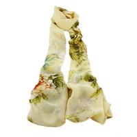 Wholesale White Elegant Scarves - Elegant Rose Flower Chiffon Print MultiColor Fashion Long Scarf Shawl For Women