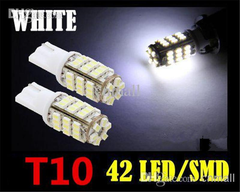 Led Bulbs 42-SMD T10 12V LED Replacement Light Bulbs+STICKER 921 912 906 White Durable LED/SMD Bulbs Ultra Bright Easy Use Long Life