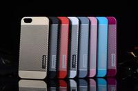 Wholesale Iphone Polka Dot Hybrid - Ultrathin Brushed Aluminum Case Polka Dot MOTOMO Brushed Hybrid Metal + PC Hard Back Case For iPhone 4 4S 5 5S