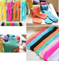 Wholesale Low Price Girls Tights - Lowest price stock Here !! 2016 New Girls Candy Color Velet Baby Tights for girl, children pantyhose for 3-12Years 13 colors available melee