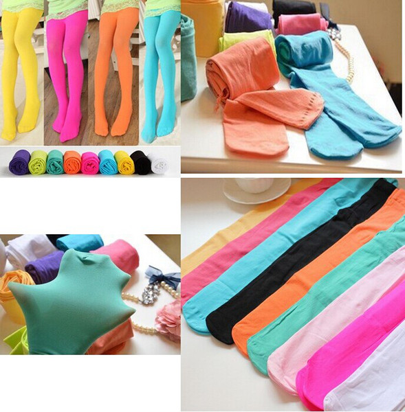 Lowest price stock Here !! 2016 New Girls Candy Color Velet Baby Tights for girl, children pantyhose for 3-12Years 13 colors available melee