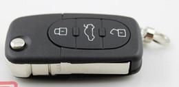 Wholesale Buttons Audi - KL82 New 3 Button Remote Key Fob Case Shell & Blade HAA for Audi A2 A3 A4 A6 A8 TT
