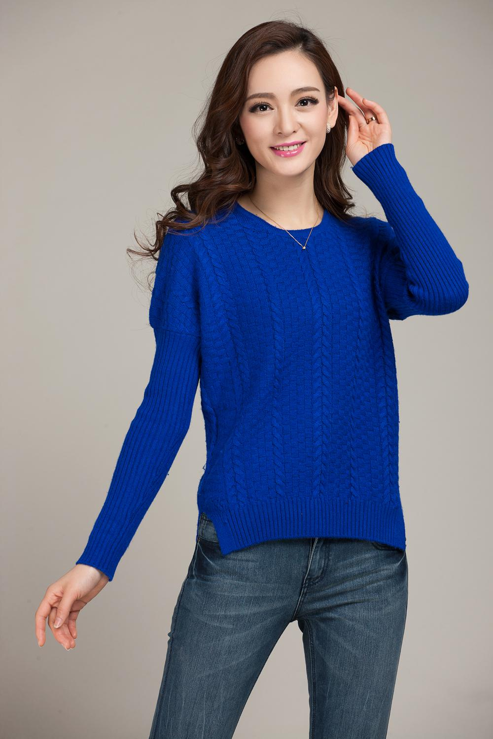 2018 New Spring Women'S Sweater Cashmere Sweater O Neck Long ...