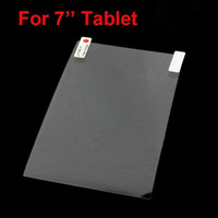 Wholesale Transparent Inch Tablet - Clear transparent Screen Protector Film 155mm X 92mm for 7 inch MID Epad Tablet DHL Free Ship