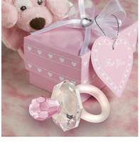 Wholesale Crystal Baby Pacifier Favors - Choice Crystal Pacifier Favors Two Colour baby shower favors Free shipping For 20pcs