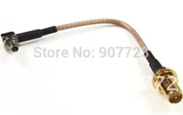 Wholesale Crc9 Male - 10pc CRC9 Male Right Angle Plug To RP-SMA Female RG316 Cable Jumper Pigtail 3G Modem 18CM