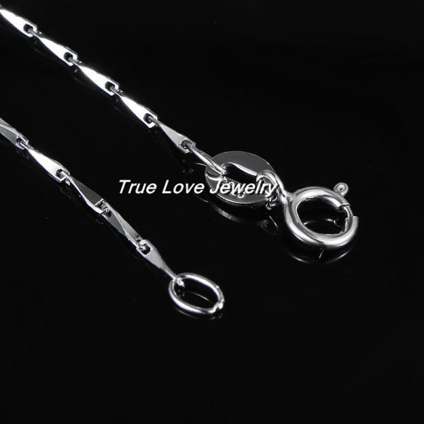 Top quality 925 Sterling Silver fashion jewelry chain necklace party style beautiful wedding gift