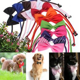 Wholesale Neck Tie Classic - Free shipping - 30pcs lot Dog Neck Tie Dog Bow Tie Cat Tie Supplies Pet Headdress adjustable bow tie [FS01009*30]