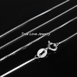 Wholesale China Wife - Fashion Jewelry 925 sterling silver box chain for women necklace length 45.5CM send his girlfriend   wife gift free shipping