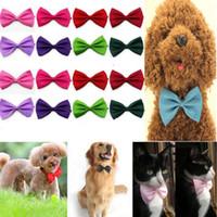 Wholesale female neck ties - Free shiping 20pcs Dog Neck Tie Dog Bow Tie Cat Tie Pet Grooming Supplies Pet Headdress Flower [FS01009*20]