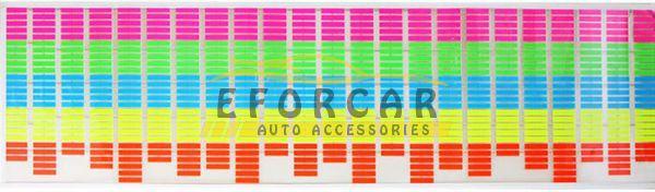 1 X Diseño de ritmo de sonido Music Activated EL Ecualizador Coche Decration Sticker Glow Panel de destello Multi Designs LED Car Music Light