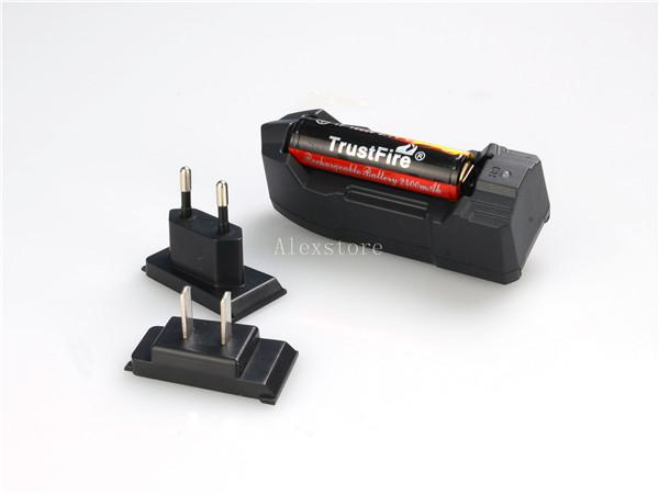 Original Trust fire single charger trustfire tr-010 multifunctional rechargeable US EU charge for 18350 18650 18500 lithium battery DHL