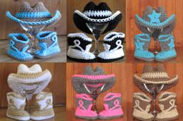 Wholesale Crochet Newborn Cowboy Hat - 6%off,Crochet baby cowboy hat boots suit - Halloween Costume- newborn baby ,(3pcs shoes+3pcs cowboy hat)set, HIGH Quality,100% Cotton,6 pcs