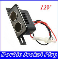 12V Female Car Cigar Cigarette Lighter Double Socket Plug Connector Adapter HIGHT QUALITY