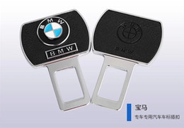 China Pair Car Vehicle Auto Safety Seat Belt Metal leather Buckle for BMW e46 e39 e36 e90 e60 e30 x5 cheap leather auto seats suppliers