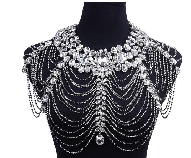 Cheap Wedding Rhinestone Pearl Jewelry Set Wholesale Nigerian Beaded