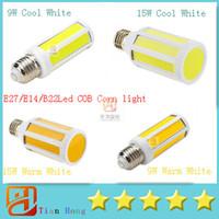 Wholesale e14 led cob corn bulb - E27 E14 B22 Led COB Corn Light 9W 900LM 15W 1400LM Warm White Cool White Light LED Corn Bulb (220V 110V)