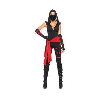 mascota Japón Deadly Traje Mujer Ninja Warrior Disfraces de Halloween Costume Sexy Anime Adulto Masquerade vestido