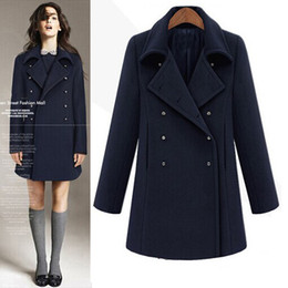 Discount Navy Winter Coat Women Wool | 2017 Navy Winter Coat Women ...
