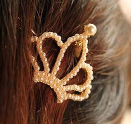 All'ingrosso-OP-Coreano moda vintage ragazza dolce d'oro simulato-perla capelli Barrettes Accessori per capelli F26 da