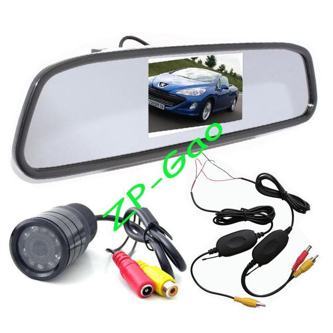 """Car Rear View Mirror 4.3/"""" Monitor IR Backup Camera For Honda Accord Pilot Kit"""
