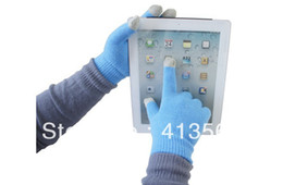 Wholesale Magic Tablet - 20pcs lot = 10 Pairs New Touch Gloves with Plastic bags Screen itouch Magic gloves ipad tablet Pure many colors Winter warm Unisex 11 color