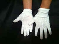 Wholesale Fingerless Gloves Cotton - Slip on White Gloves 100% COTTON Parade Catering & More - Size S, M, L, XL
