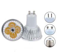 Wholesale High Power Cree 12w 4x3w - High power CREE GU10 E27 GU5.3 E14 4x3W 12W 85-265V Dimmable Light lamp Bulb LED Downlight Led Bulb Warm Pure Cool White