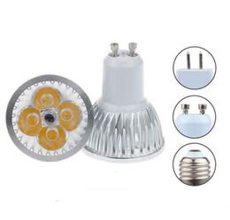 Wholesale E14 Pure White Bulb - High power CREE GU10 E27 GU5.3 E14 4x3W 12W 85-265V Dimmable Light lamp Bulb LED Downlight Led Bulb Warm Pure Cool White