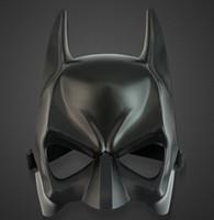 yetişkinler için siyah yarı maskeler toptan satış-Toptan Satış - Cadılar Bayramı kostüm partisi maskesi karikatür simülasyon erkek yetişkinler batman siyah plastik ve yarım yüz maskesi 10 adet / grup