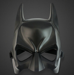 Wholesale Halloween costume party mask cartoon simulation male adults batman black plastic and half face mask
