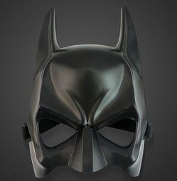 Wholesale black mask batman - Wholesale - Halloween costume party mask cartoon simulation male adults batman black plastic and half face mask 10pcs lot