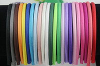 Wholesale Satin Covered Headbands - Hot Sales 20 Colors Satin Covered girls and women Headbands 10mm 60pcs   lot