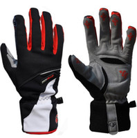 Wholesale Leather Gauntlet Gloves - outdoor waterproof cycling gloves guante men full finger mountainbike glove motocycle long gloves mtb bike motocross guantes