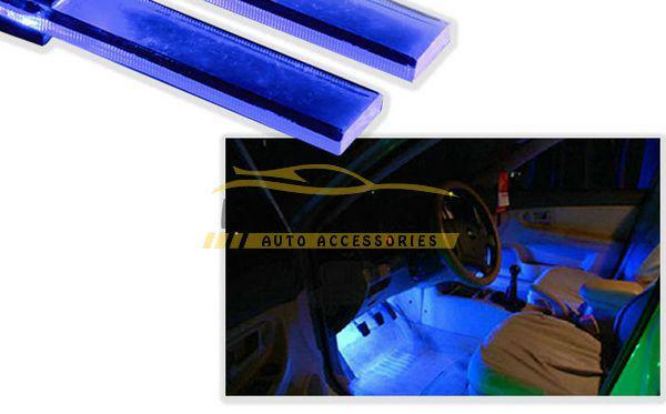 3x Romance 4 in 1 LED Atmosfera Luci 12V Car Auto Decorazione interna Lampada con accendisigari Blu spedizione gratuita
