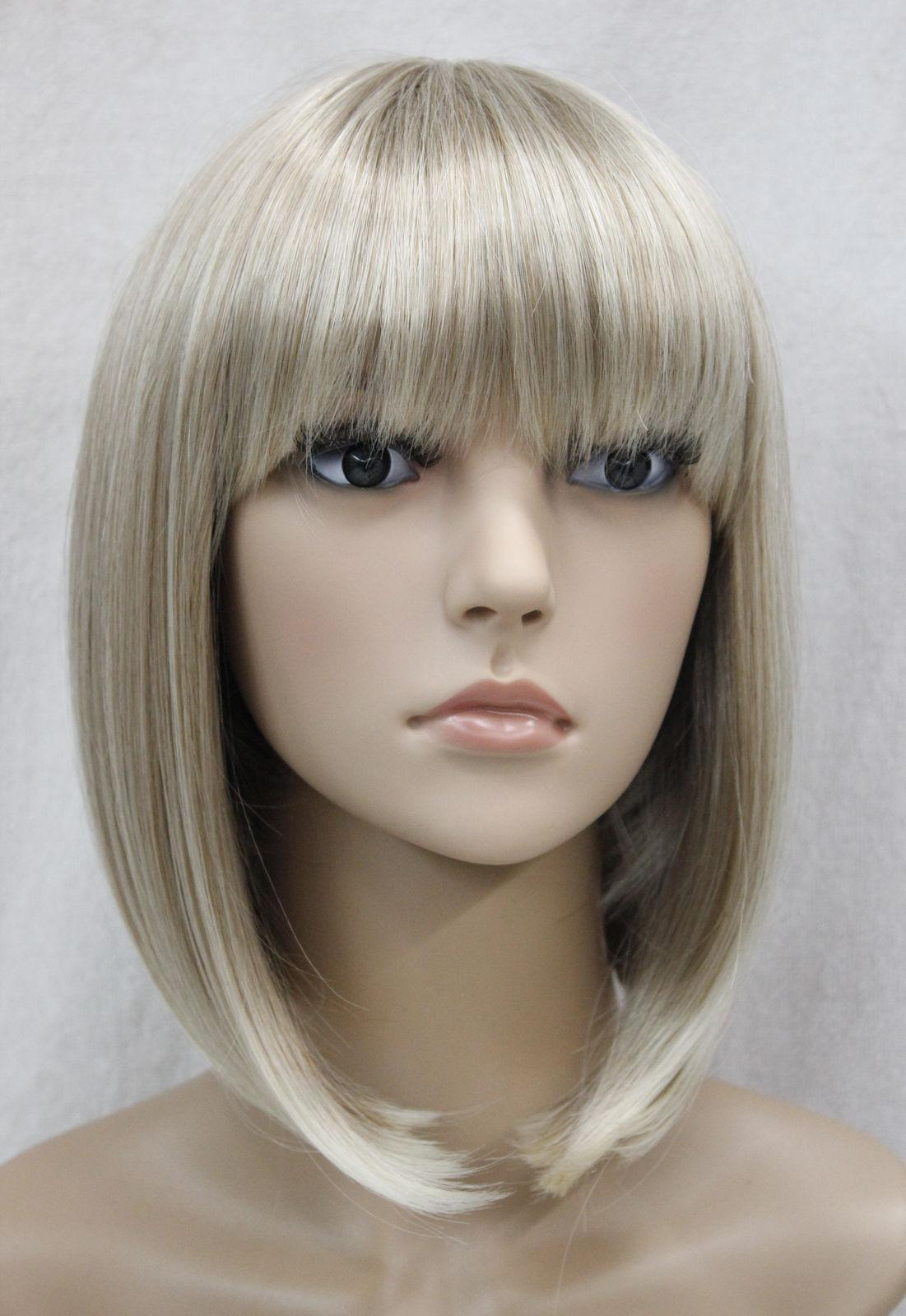 hair bangs wig blonde Short with