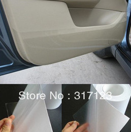 Wholesale Vinyl Car Paint - Free shipping Rhino Skin Car Bumper Hood Paint Protection Film Vinyl Clear Transparence film 20cmx6M thickness:0.2mm
