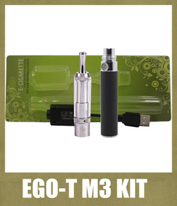 Wholesale Ego T Cloutank M3 Vaporizer Atomizer Blister Kit mah Non Adjustable Ego Battery M3 Wax Dry Herb Atomzier Starter Kit Colorful KZ010
