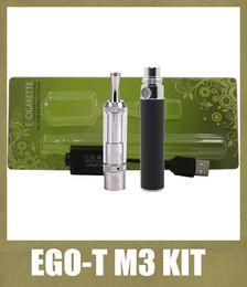 vaporizador cloutank m3 kit Rebajas Ego-T Cloutank M3 Vaporizador Atomizador Blister Kit 650/900mah No Ajustable de la Batería Ego M3 de Cera Seco de la Hierba Atomzier Starter Kit Colorido KZ010