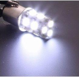 Wholesale 12v P21w Bulb - Hot! 50pcs lots 1156 1157 BA15S P21W 13 SMD 5050 13 LED 13led 13smd Brake Tail Turn Signal Light Bulb Lamp white Auto led Car bulb light 12V