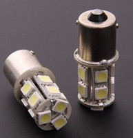 Wholesale H1 13 Led - Hot! 20pcs lots 1156 1157 BA15S P21W 13 SMD 5050 13 LED 13led 13smd Brake Tail Turn Signal Light Bulb Lamp white Auto led Car bulb light 12V