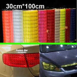 "Wholesale Light Smoke Headlight Tint - 12"" x 40"" color styling Auto 3D Cat's Eye Car Sticker Smoke Fog Light HeadLight Taillight Tint Vinyl Film Free Shipping AAA"