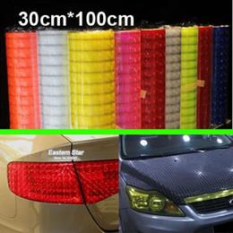 "Wholesale Fog Light Film - 12"" x 40"" color styling Auto 3D Cat's Eye Car Sticker Smoke Fog Light HeadLight Taillight Tint Vinyl Film Free Shipping AAA"