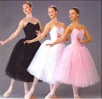 Wholesale Dance Ballet Long Tutus - Adult &teen ballet tutu dres dance party dresses Long dance skirt Dance Practice Costume Adult Performance Clothes
