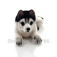 Wholesale Nodding Dogs - New Cute Husky Bobblehead Dog Doll Car Nodding Dog Shakes His Head Shaking Dog For Car Decoration Furnishing Articles