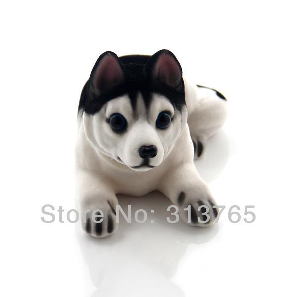 Nuovo simpatico cane Husky Bobblehead Dog annodando il cane scuote la testa agitando il cane per la decorazione di auto