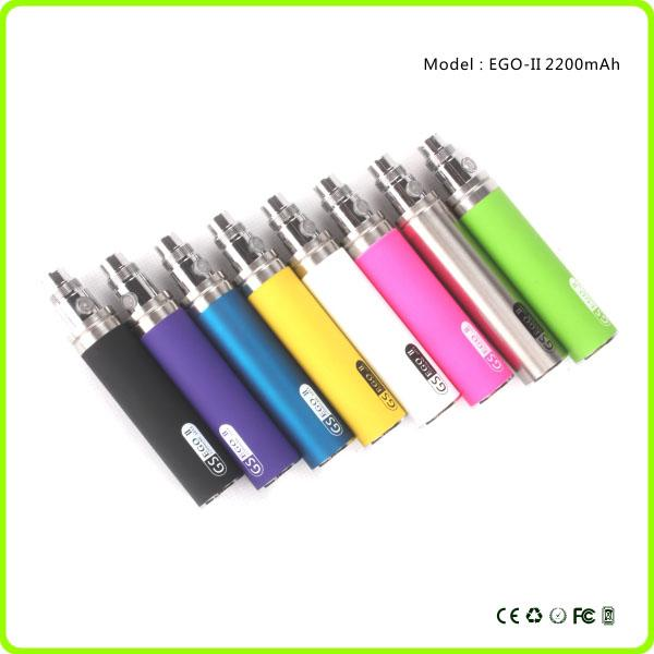 La batteria più potente dell'ego del prodotto 2200mAh Batteria GS Ego II Grande capacità KGO ONE WEEK Batteria penna vaporizzatore e sigaretta 510 EGO Atomizzatore