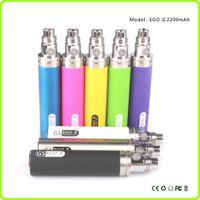 ego ii toptan satış-ego 2200mAh batarya GS Ego II Akü Büyük Kapasiteli KGO BİR HAFTA Pil Buharlaştırıcı için Kalem e sigara 510 EGO Atomizer